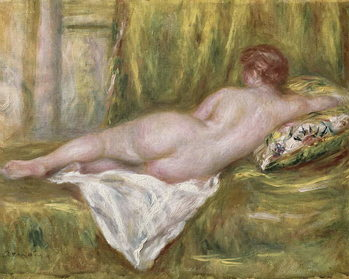 Reclining Nude from the Back, Rest after the Bath, c.1909 Kunsttrykk