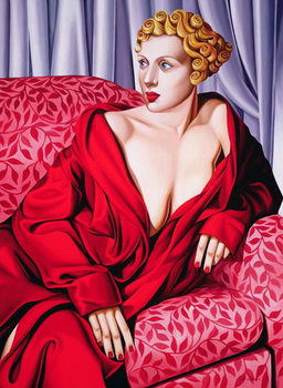 Red Kimono Kunsttrykk