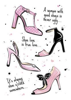 Illustrasjon Shoe quote