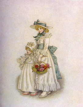 'Sisters' by Kate Greenaway Kunsttrykk