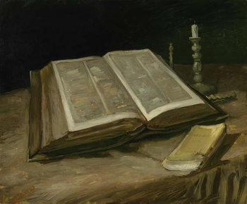 Still Life with Bible, 1885 Kunsttrykk