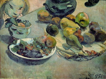 Still Life with Fruit, 1888 Kunsttrykk