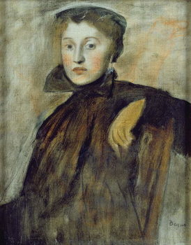 Study for a Portrait of a Lady, 1867 (oil on canvas) Kunsttrykk