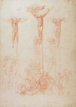 Study of Three Crosses Kunsttrykk