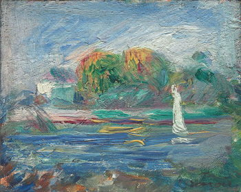 The Blue River, c.1890-1900 Kunsttrykk