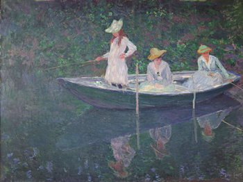 The Boat at Giverny, c.1887 Kunsttrykk