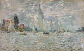 The Boats, or Regatta at Argenteuil, c.1874 Kunsttrykk