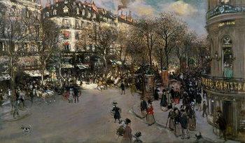 The Boulevard des Italiens, c.1900 Kunsttrykk