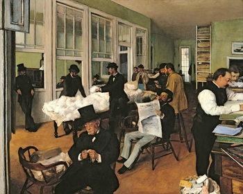 The Cotton Exchange, New Orleans, 1873 Kunsttrykk