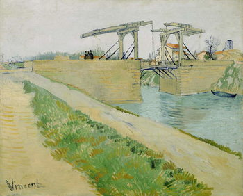 The Langlois Bridge, March 1888 Kunsttrykk
