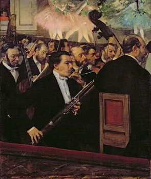 The Opera Orchestra, c.1870 Kunsttrykk