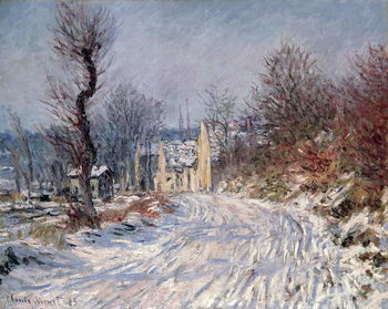 The Road to Giverny, Winter, 1885 Kunsttrykk