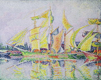 Three Yellow Masts, 1931 Kunsttrykk