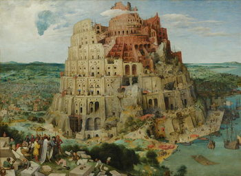 Tower of Babel, 1563 (oil on panel) Kunsttrykk