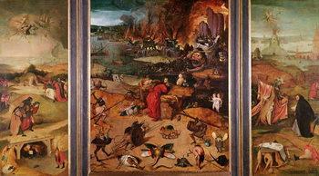 Triptych of the Temptation of St. Anthony Kunsttrykk