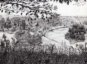 View from Richmond Hill London, 2004, Kunsttrykk