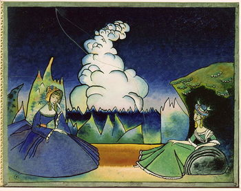 White Cloud, 1918 Kunsttrykk