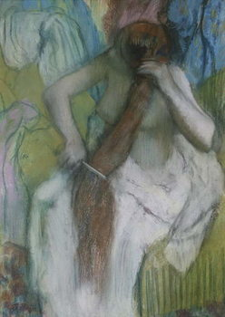 Woman Combing her Hair, 1887-90 Kunsttrykk