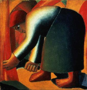 Woman Cutting, c.1900 Kunsttrykk