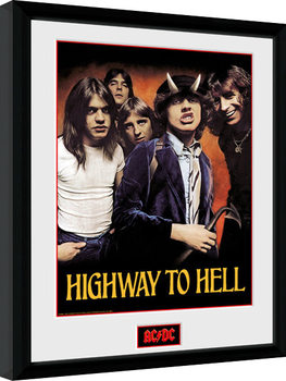 AC/DC - Highway to Hell gerahmte Poster