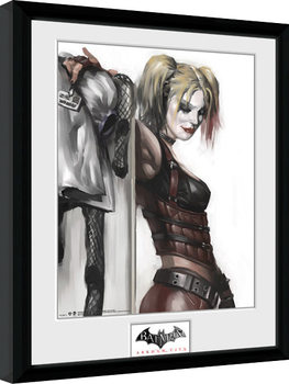 Batman: Arkham City - Harley Quinn gerahmte Poster