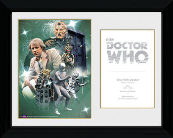 Doctor Who - 5th Doctor Peter Davison gerahmte Poster