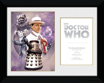 Doctor Who - 7th Doctor Sylvester McCoy gerahmte Poster