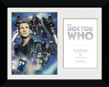 Doctor Who - 9th Doctor C. Ecclestone gerahmte Poster