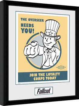 Fallout - Needs You gerahmte Poster