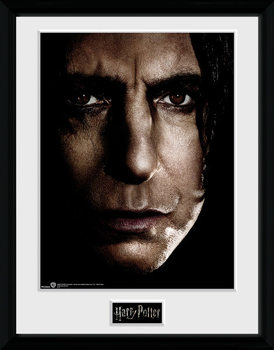 Harry Potter - Snape Face gerahmte Poster