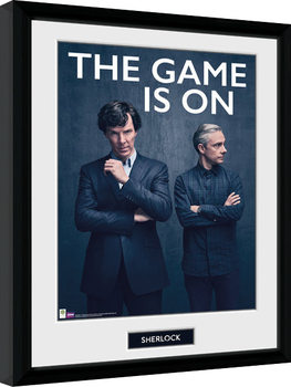 Sherlock - The Game Is On gerahmte Poster