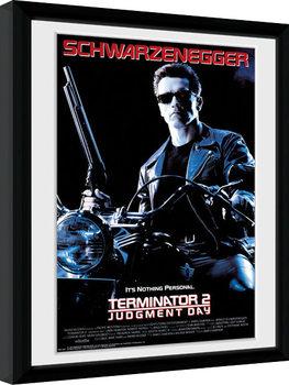 Terminator 2 - One Sheet gerahmte Poster