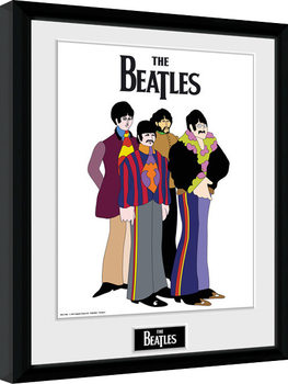 The Beatles - Yellow Submarine Group gerahmte Poster