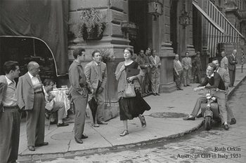 American girl in Italy, 1951 Kunsttrykk