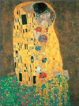 Gustav Klimt - Il Bacio Kunsttrykk