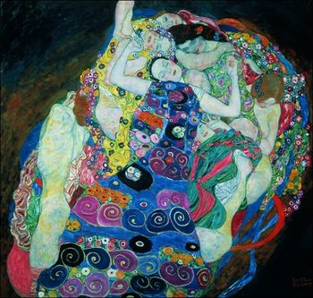 Gustav Klimt - Le Vergini Kunsttrykk