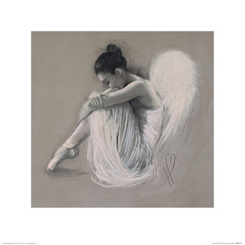Hazel Bowman - Angel Wings IV Kunsttrykk