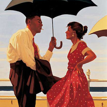 Jack Vettriano - Bad Boy, Good Girl Kunsttrykk