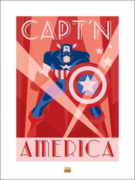 Marvel Deco - Captain America Kunsttrykk
