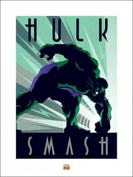 Marvel Deco - Hulk Kunsttrykk
