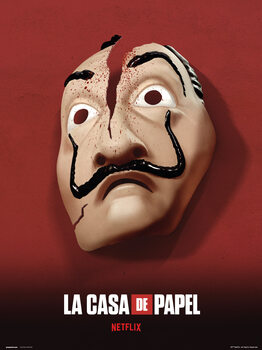 Papirhuset (La Casa De Papel) - Mask Kunsttrykk