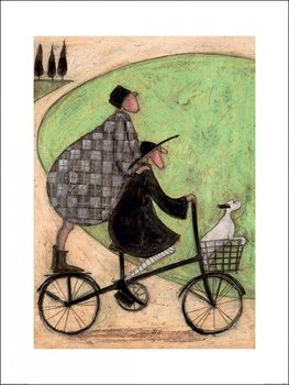 Sam Toft - Double Decker Bike Kunsttrykk