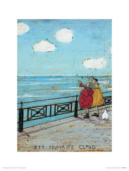 Sam Toft - Her Favourite Cloud Kunsttrykk