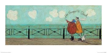 Sam Toft - Her Favourite Cloud II Kunsttrykk