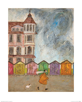 Sam Toft - I Can Sing a Beach Hut Kunsttrykk