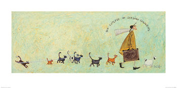 Sam Toft - The Suitcase of Sardine Sandwiches Kunsttrykk