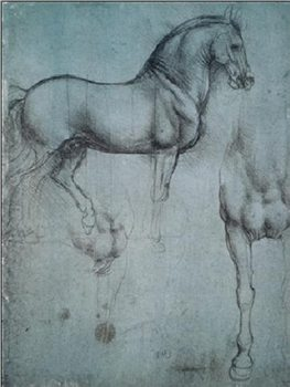 Study of Horses Kunsttrykk