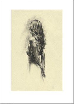 Vrouw - Back Kunsttrykk