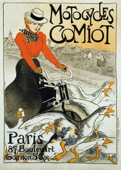 Billede på lærred Advertising poster for Comiot motorcycles.
