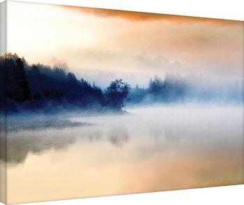 Andreas Stridsberg - Hazy Lake Billede på lærred